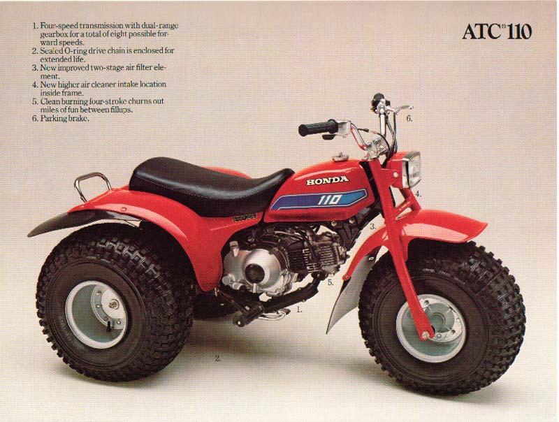1982 Honda ATC 110 on Honda 185 Atc Wiring Diagram