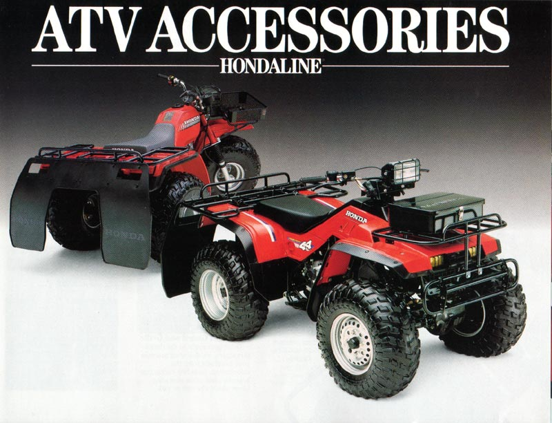 Three Wheeler Accessories : Honda atv attachments gallery