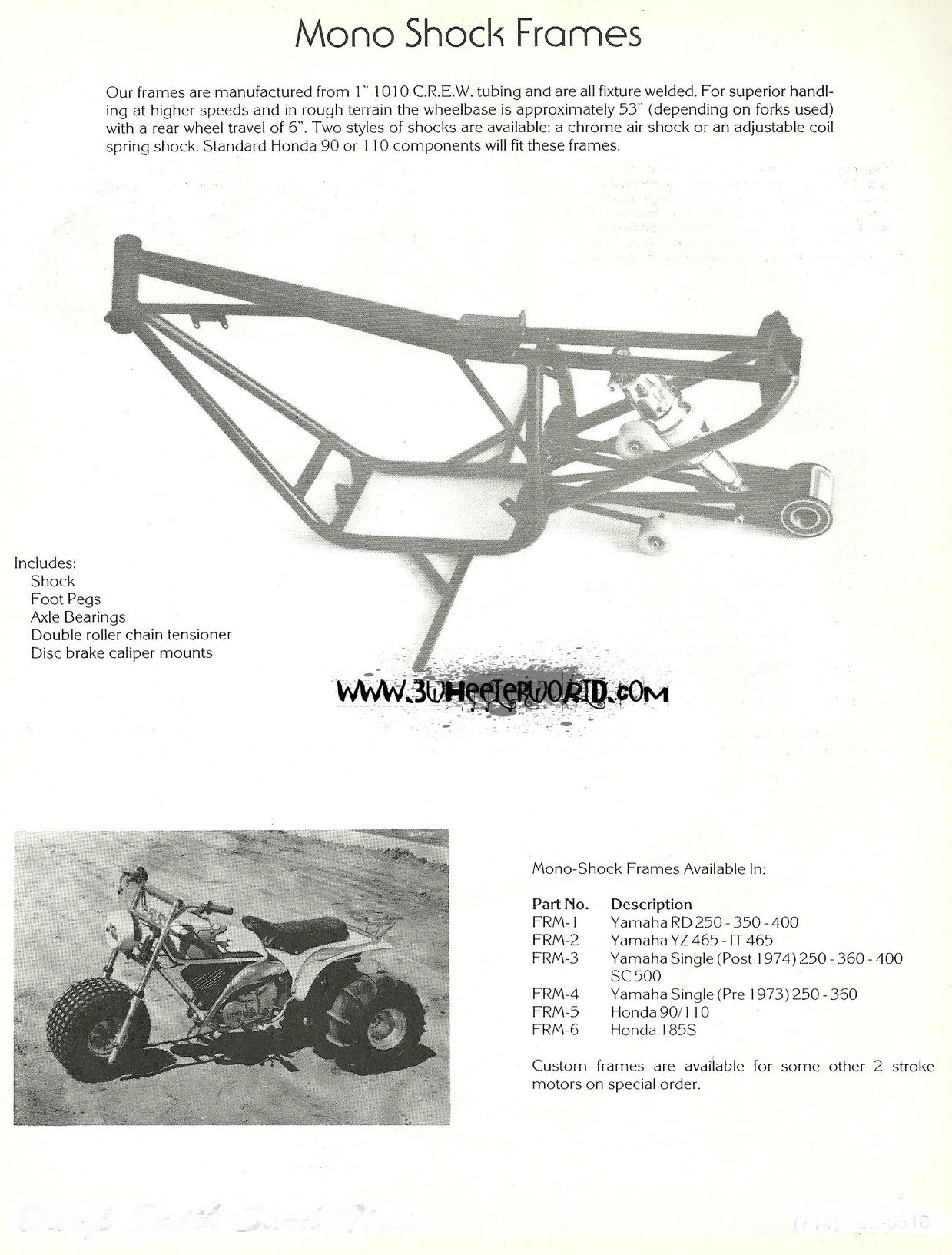 3wheeler world vintage high performance products brochures cool rd400 xr500 cr250 elsinore this would have been like the earliest version of a 250r probably ever conceived back in the mid 1970s falaconquin