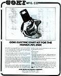 Goki electric starter kit for Honda 350X ATC