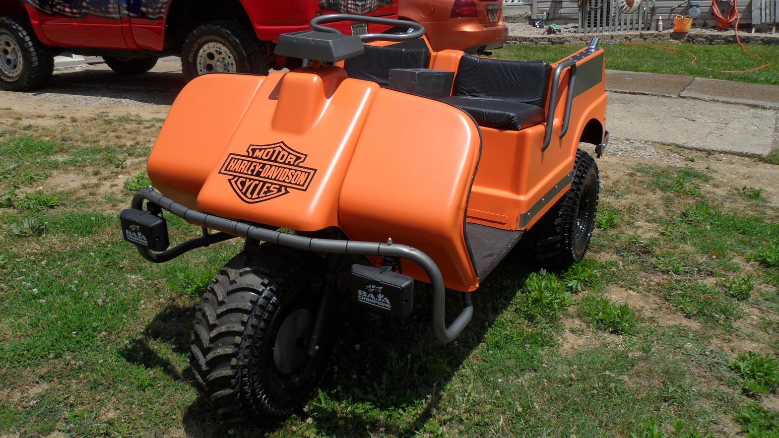Harley Davidson 3 wheel golf cart on