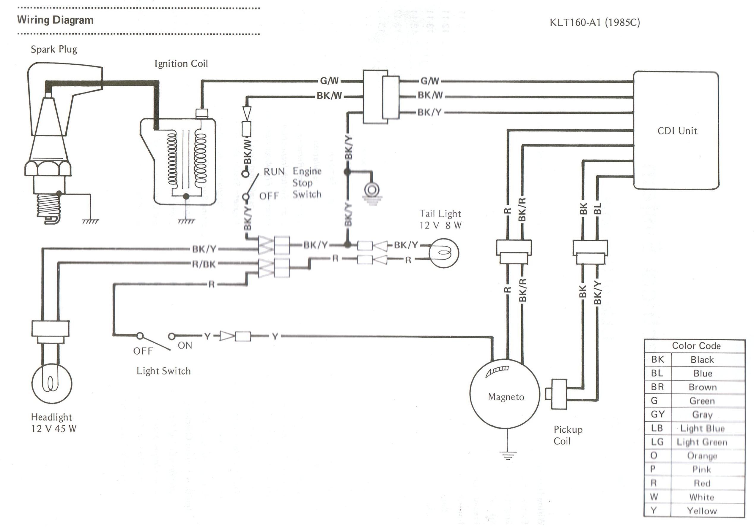 kawasaki kl250 wiring diagram kawasaki wiring diagrams online