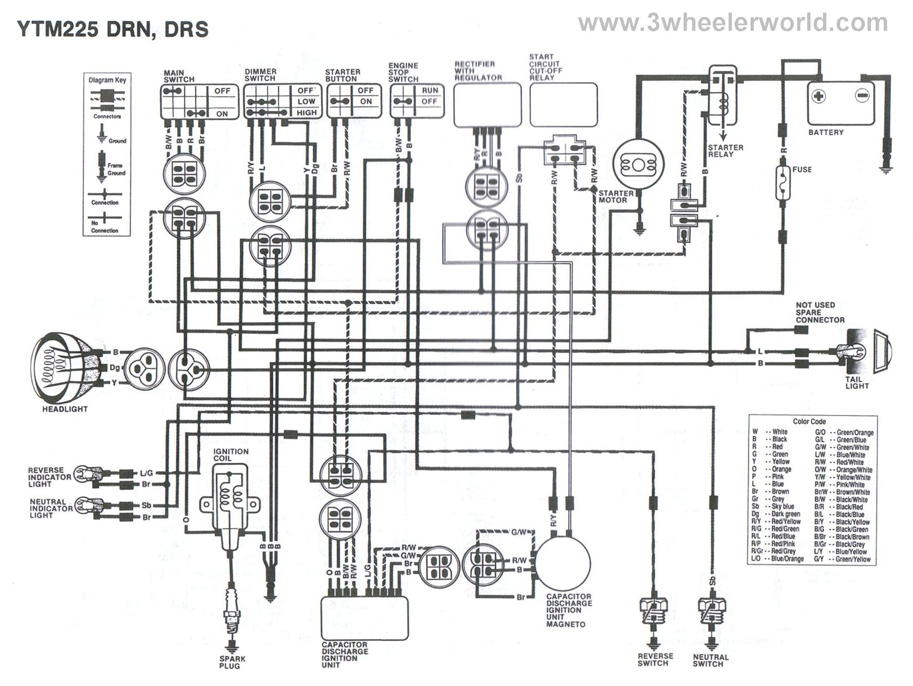 yamaha rectifier regulator wiring diagram yamaha discover your yamaha moto 4 wire diagram