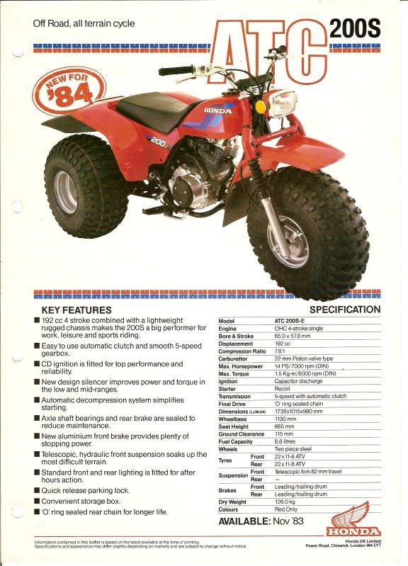 NEW HONDA CLUTCH CABLE ATC200X ATC 200X 200 X 1983 1984 1985 TRIKE 3 WHEELER