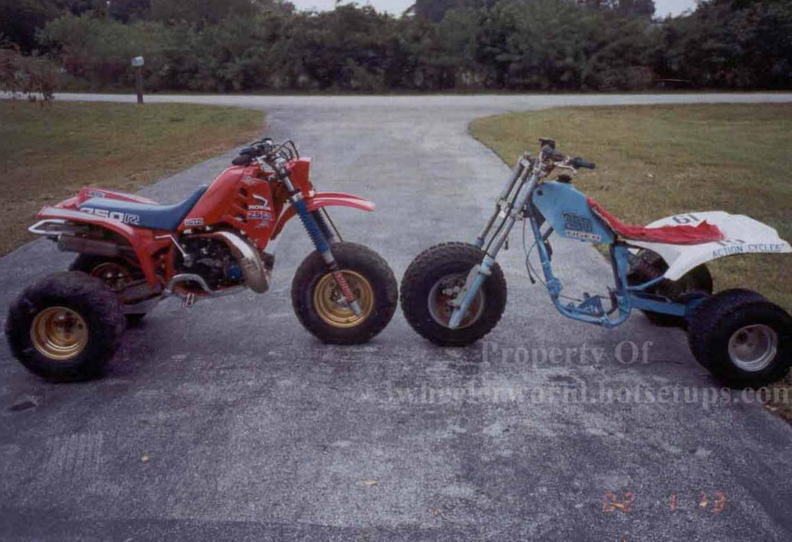 Mike Thurman's 250R, and Tiger 250 Side by side.