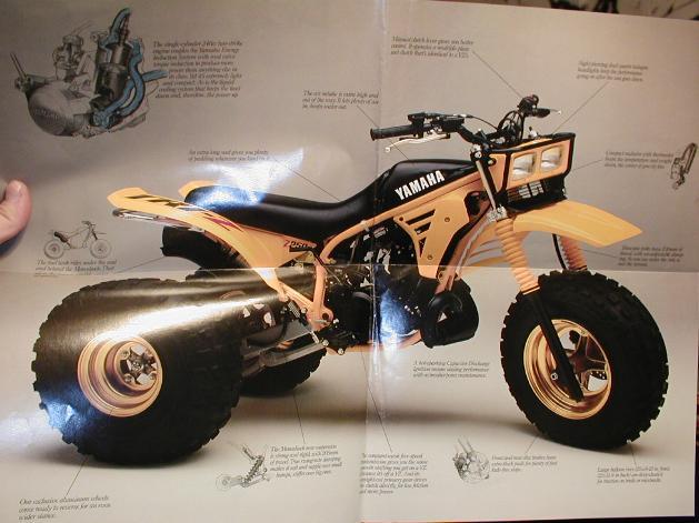 3 wheeler world 1985 yamaha tri z for Yamaha 200e 3 wheeler