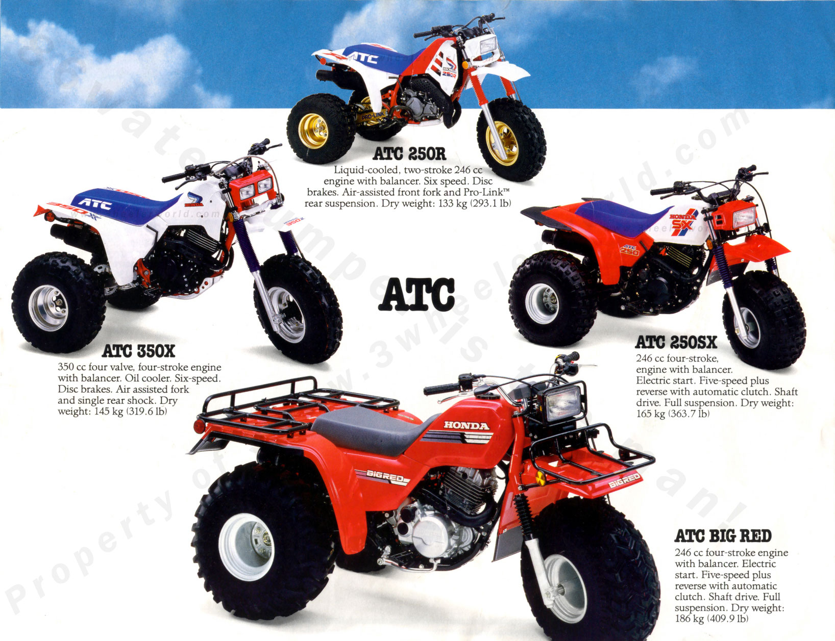 Four Wheelers For Sale >> 3 WHeeLeR WoRLD-Quest for the 87 ATCs