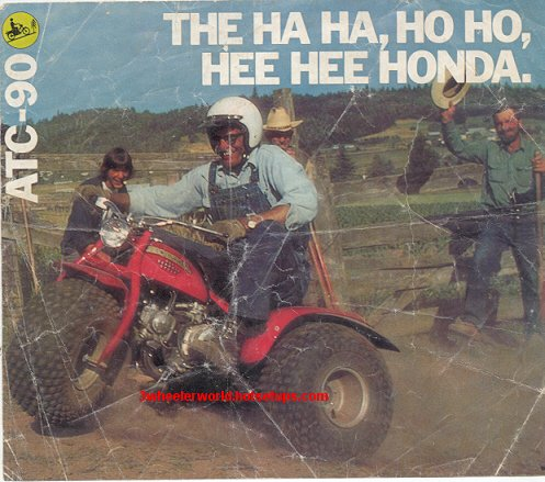 Honda Odyssey 4 Wheeler >> THRee WHeeLeR WoRLD 1976 thru 1979 Honda Ads PaGe 1