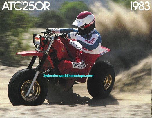ATC 250R Three Wheeler http://www.3wheelerworld.com/oldsite/zHonda1983ads1.shtml