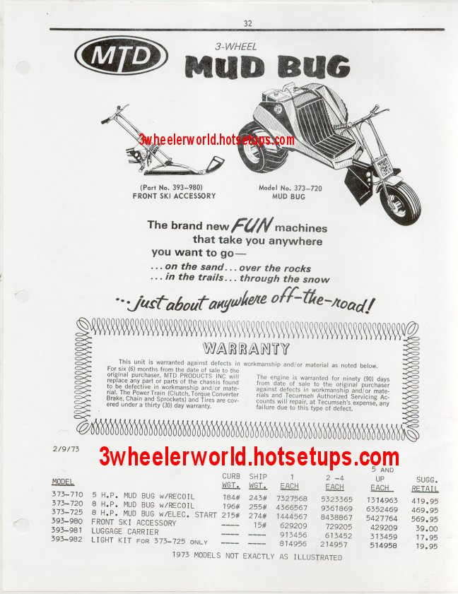 3wheeler world mud bug page