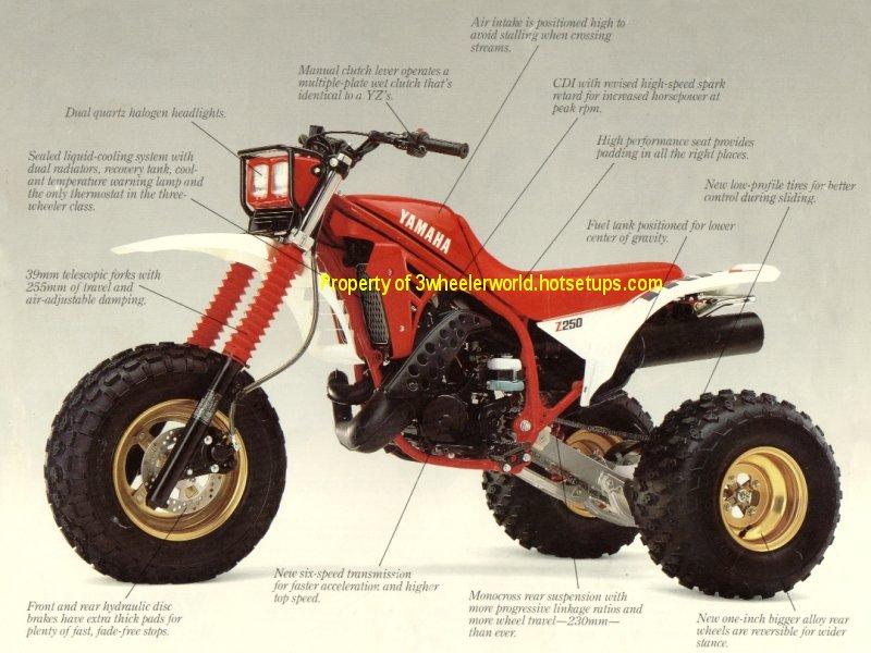 Three wheeler world 1980 thru 1987 yamaha ads page for Yamaha 200e 3 wheeler