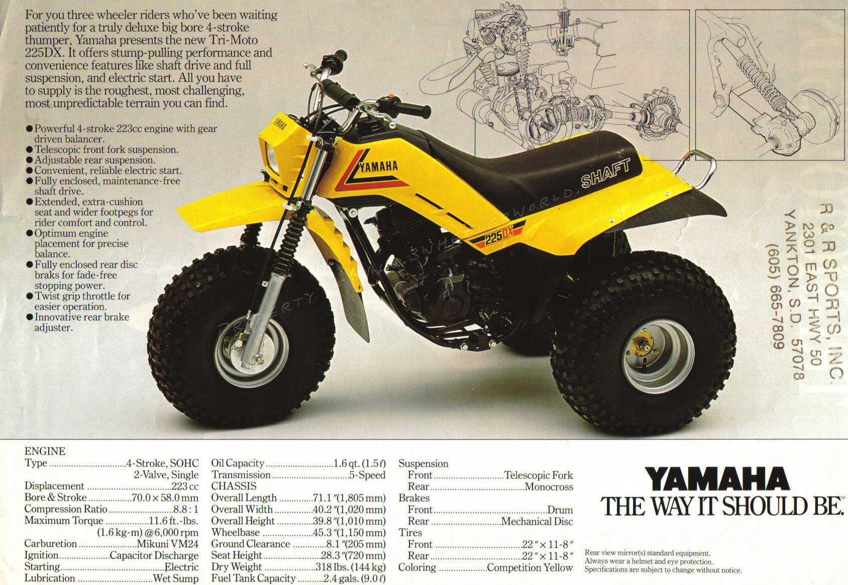 1985 Yamaha 225DX Complete
