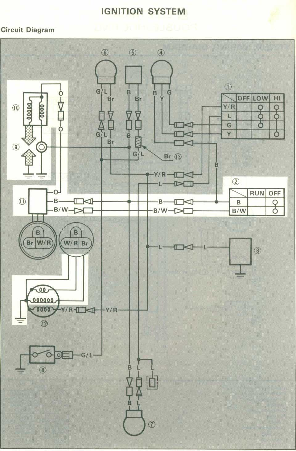 3 Wheeler World Tech Help Yamaha Wiring Diagrams Polaris 800 Atv Tri Z Ytz250n 1985