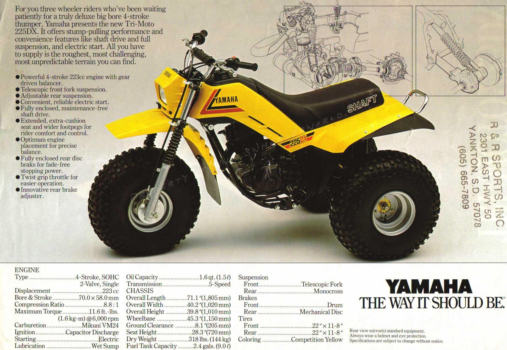 Yamaha 200e Three wheeler Manual